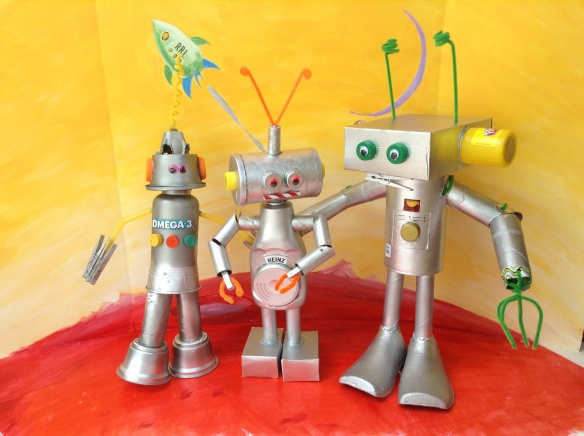 Meet Omega-3, Heinz, and Joebot. (copyright Betsy Andrews Etchart)